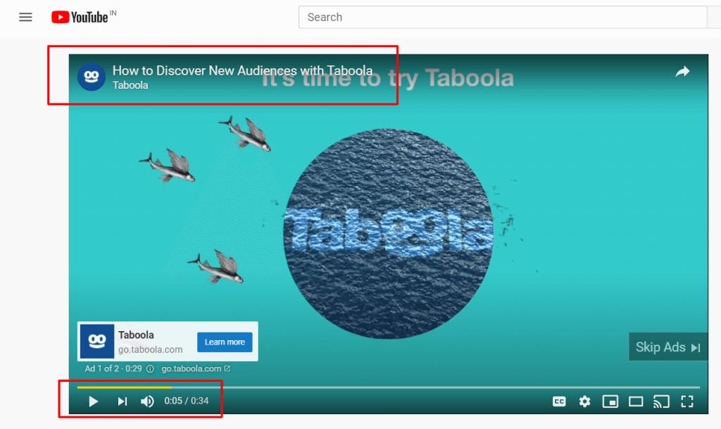 Taboola youtube ads