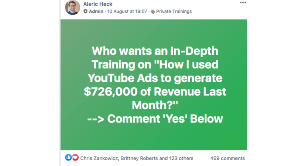 post content to get leads