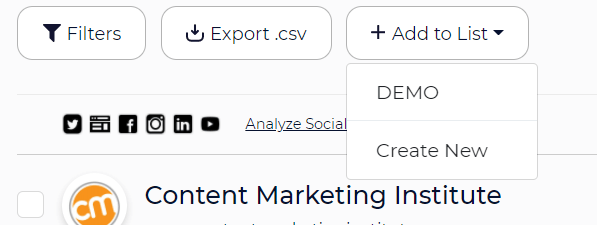 create audience list