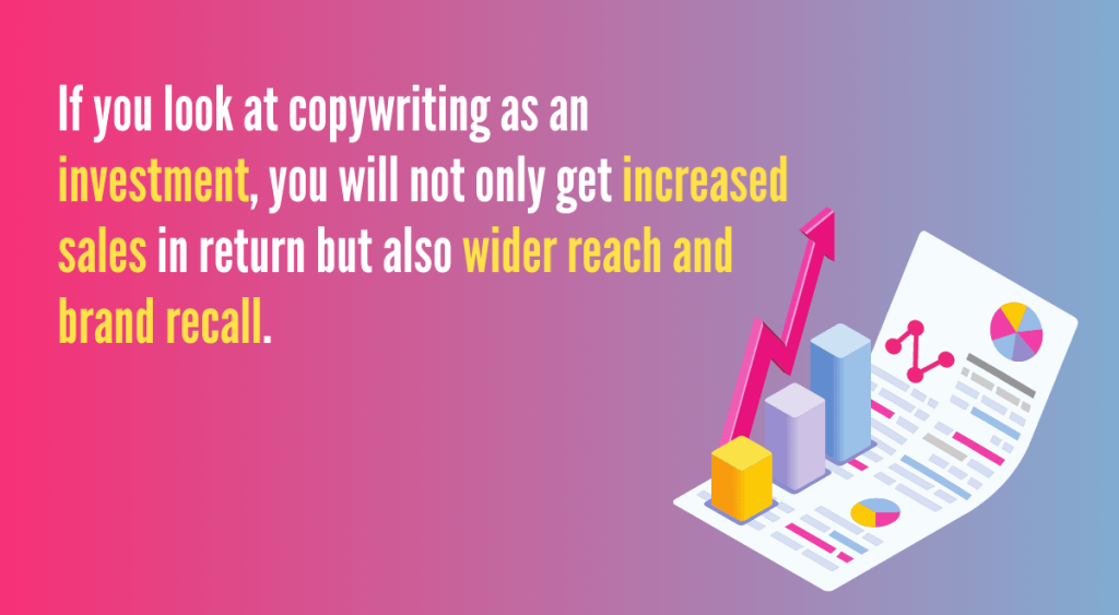 copywriting increases sales, reach, brand recall