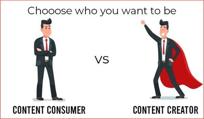content consumer vs content creator